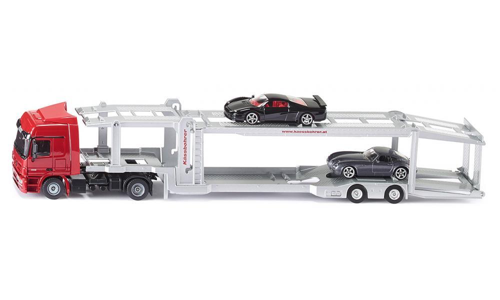 Siku Super Mercedes Actros met autotransportoplegger