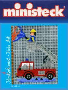 Ministeck Kinderkunst Brandweer