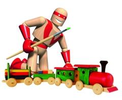Trein met Wagons