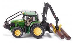 Siku John Deere 7530 Bosbouwtractor
